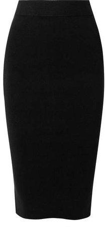 Stretch-knit Skirt - Black