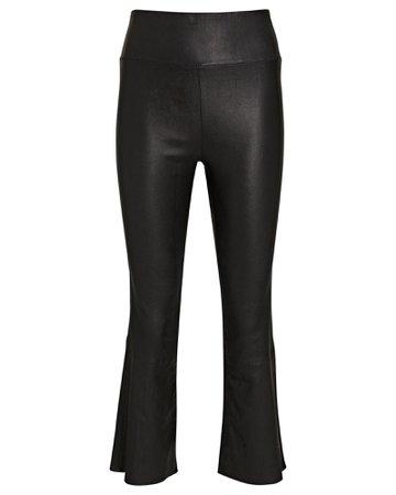 SPRWMN Crop Flare Leather Leggings   INTERMIX®