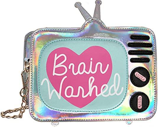 QZUnique Women PU Handbag Shoulder Bag Creative Laser TV Purse Messenger Chain Crossbody Bags Handbags: Handbags: Amazon.com