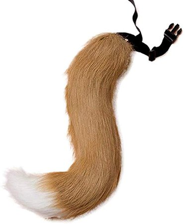 Amazon.com: Unisex Faux Fur Fox Tail for Adult Cosplay Costume Halloween Party: Clothing