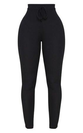 Shape Black Ribbed High Waist Leggings | PrettyLittleThing