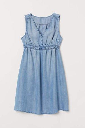 MAMA Lyocell Denim Dress - Blue