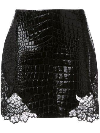 Versace Crocodile-Effect Mini Skirt Aw19 | Farfetch.com