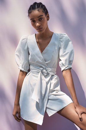 BELTED VOLUMINOUS DRESS - Mini-DRESSES-TRF | ZARA United States