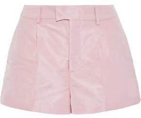 Pleated Faille Shorts