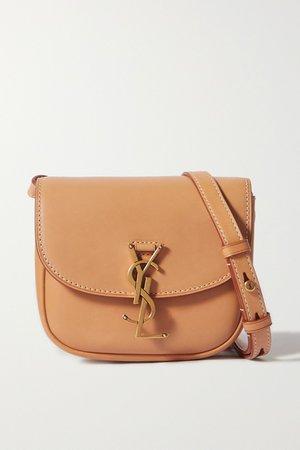 Brown Kaia mini leather shoulder bag | SAINT LAURENT | NET-A-PORTER