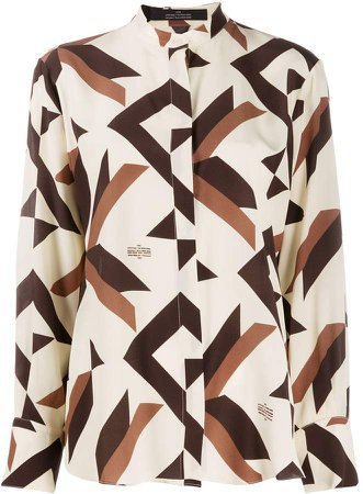 Roca band-collar blouse
