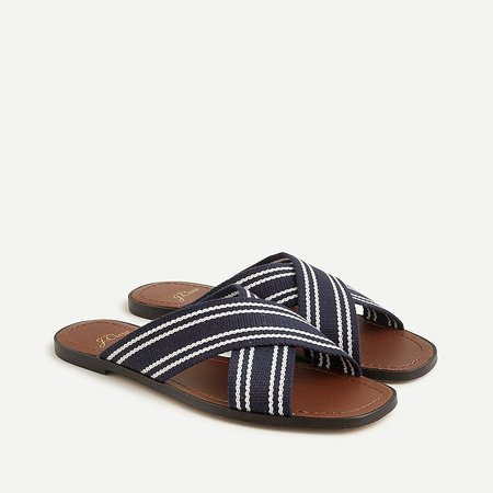 J.Crew: Flat Sandals With Woven Straps For Women