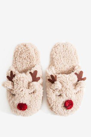 Cozy Reindeer Slippers