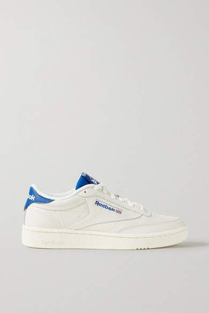 Club C Leather And Mesh Sneakers - Off-white