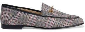 Loraine Embellished Checked Woven Loafers