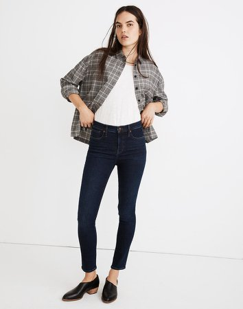 """9"""" Mid-Rise Skinny Jeans in Orland Wash: TENCEL Denim Edition"""