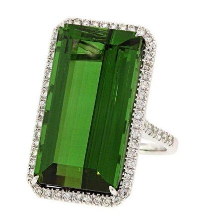 Ring diamond  emerald