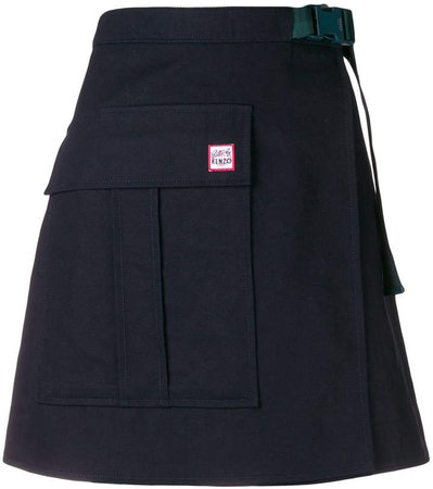 front button A-line skirt