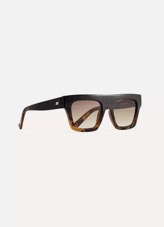 Le Specs | Subdimension D-frame tortoiseshell acetate sunglasses | NET-A-PORTER.COM