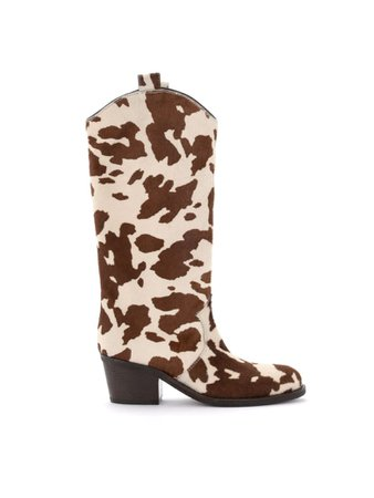 Best price on the market at italist | Via Roma 15 Via Roma 15 Boot In Calfskin In Cow Print