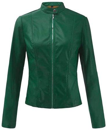 Amazon.com: LISTHA Zipper Bomber Jacket Women Retro Rivet Casual Coat Short Outwear Tops: Clothing