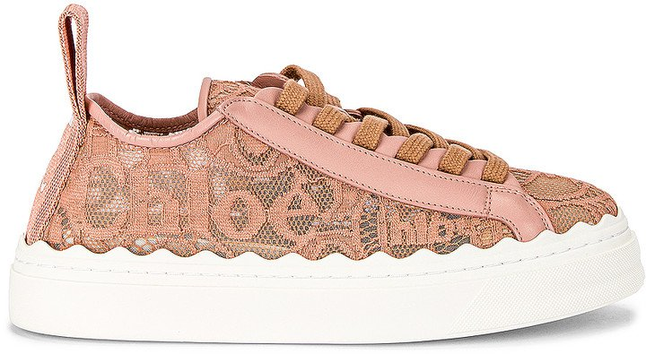 Lauren Lace Sneakers in Pink Tea | FWRD