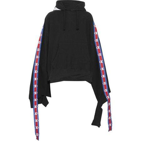 Vetements Vetements - + Champion Cotton-blend Jersey Hooded Sweatshirt