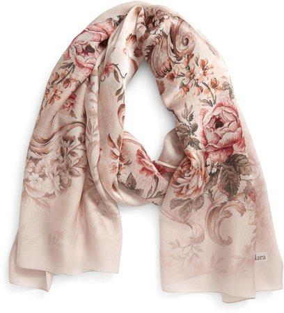 Rasetto Floral Print Silk Scarf
