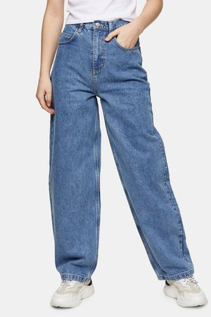 Mid Blue Baggy Jeans | Topshop