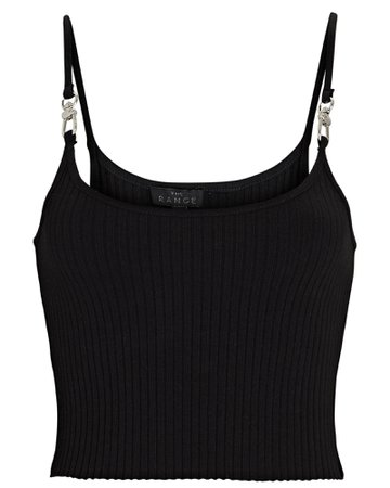 The Range Primary Rib Knit Cropped Harness Tank Top   INTERMIX®