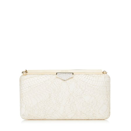 White lace clutch