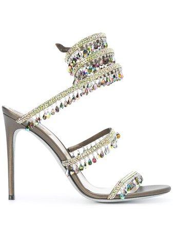 René Caovilla Embellished Strappy high-heel Sandals - Farfetch