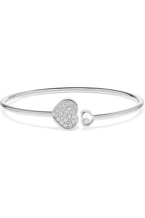 Chopard | Happy Hearts 18-karat white gold diamond cuff | NET-A-PORTER.COM