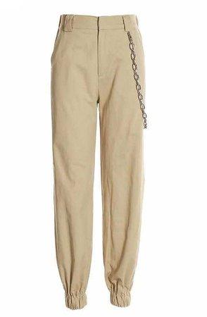 Khaki Cargo Trouser Pants