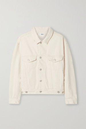 Neutral Charli oversized denim jacket | AGOLDE | NET-A-PORTER