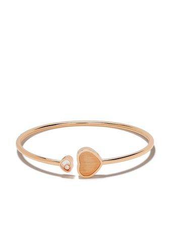 Chopard X 007 18Kt Rose Gold Happy Hearts - Golden Hearts Diamond Bangle Ss20 | Farfetch.Com
