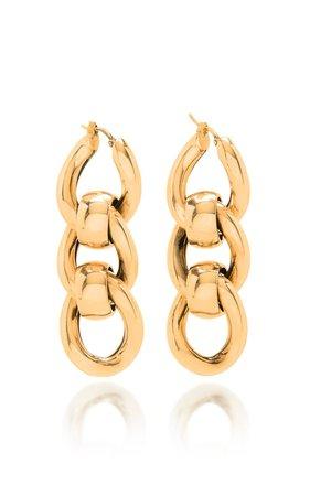 Chain Metal Drop Earrings by Bottega Veneta   Moda Operandi