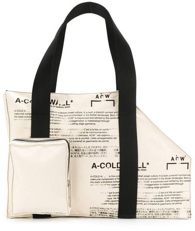 asymmetric structured tote bag
