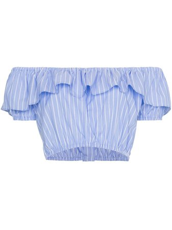 Miu Miu off-shoulder strap cropped top £355 - Shop Online - Fast Global Shipping, Price