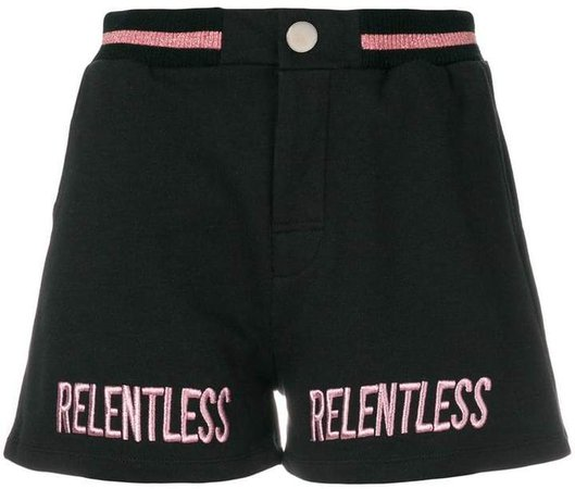 relentless embroidered shorts