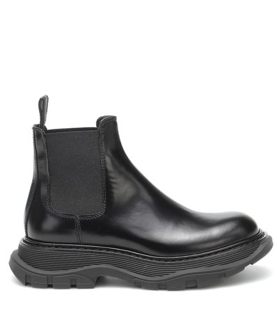 Alexander McQueen - Tread leather Chelsea boots | Mytheresa