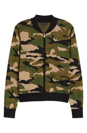 J.Crew Camo Bomber Sweater Jacket (Regular & Plus Size) (Nordstrom Exclusive) | Nordstrom