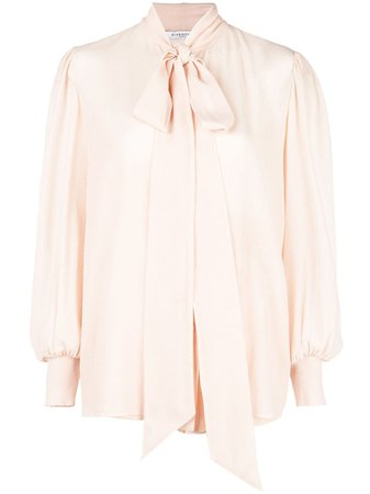 Shop pink Givenchy pussycat bow blouse with Express Delivery - Farfetch