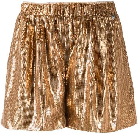 Twin Set high-waisted sequinned shorts