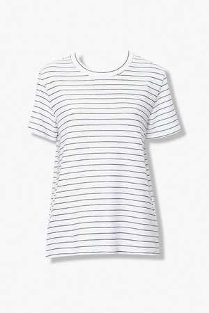 Pinstriped Crew Tee | Forever 21
