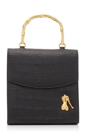 Claude Croc-Effect Leather Top Handle Bag by Marargent | Moda Operandi