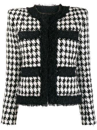 Balmain Houndstooth Tweed Jacket - Farfetch