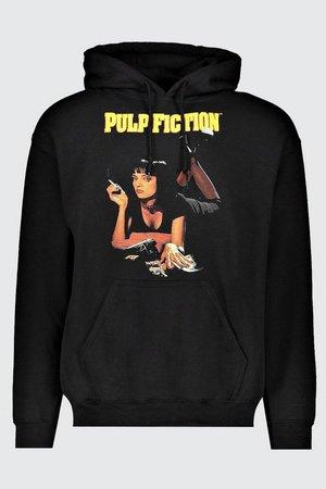 Oversized Pulp Fiction MIA License Hoodie | Boohoo