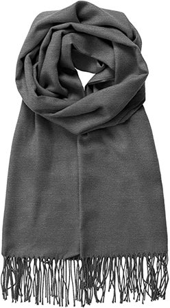 MBJ Shawls and Wraps Elegant Cashmere Scarfs for Women Stylish Warm Blanket Solid Winter Scarves ONESIZE HEATHER_CHARCOAL at Amazon Women's Clothing store