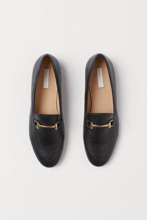 Loafers em pele - Preto - SENHORA | H&M PT
