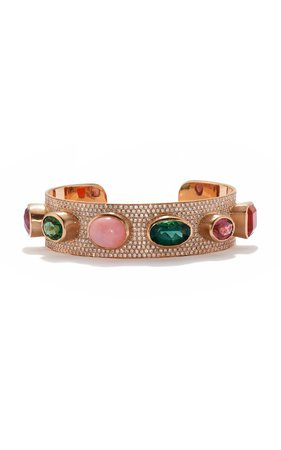 One of a Kind Gemmy Gem Cuff by Irene Neuwirth | Moda Operandi