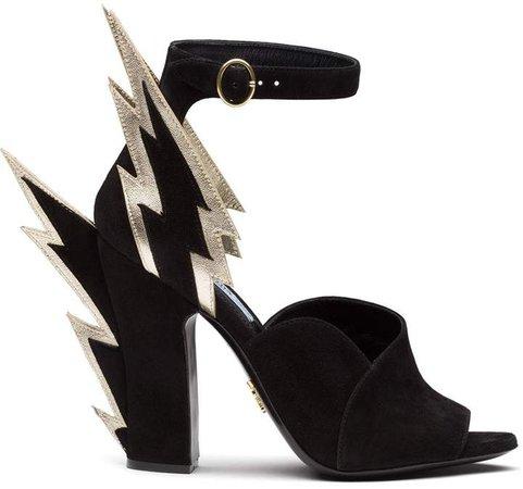 thunderbolt detail sandals