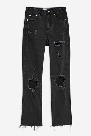 TopShop Washed Black Rip Jeans