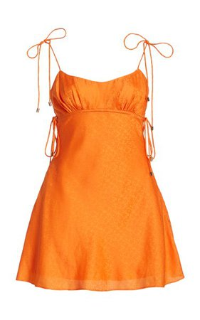 Mimosa Jacquard Satin Mini Dress By Significant Other | Moda Operandi